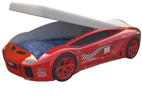 Ламба Next Красная 2 с подъемным механизмом - кровать-машинка. Серия Ламба Next с подъемным механизмом производитель КарлСон 24