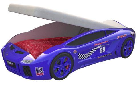 Ламба Next Синяя 2 с подъемным механизмом - кровать-машинка. Серия Ламба Next с подъемным механизмом производитель КарлСон 24