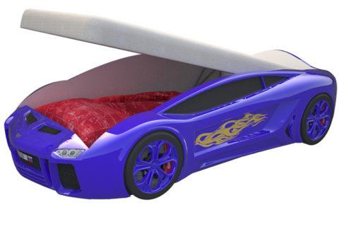 Ламба Next Синяя с подъемным механизмом - кровать-машинка. Серия Ламба Next с подъемным механизмом производитель КарлСон 24