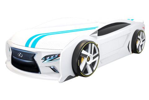 Лексус Манго Белый - кровать-машинка. Серия Манго с подъемным матрасом производитель КарлСон 24