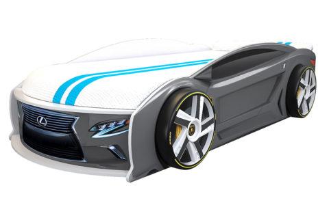 Лексус Манго Графит - кровать-машинка. Серия Манго с подъемным матрасом производитель КарлСон 24