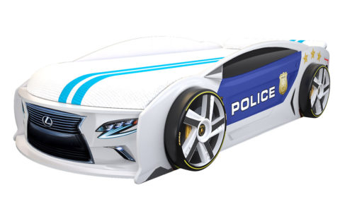 Лексус Манго Полиция 2 - кровать-машинка. Серия Манго с подъемным матрасом производитель КарлСон 24