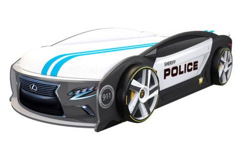 Лексус Манго Полиция - кровать-машинка. Серия Манго с подъемным матрасом производитель КарлСон 24
