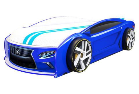 Лексус Манго Синий - кровать-машинка. Серия Манго с подъемным матрасом производитель КарлСон 24