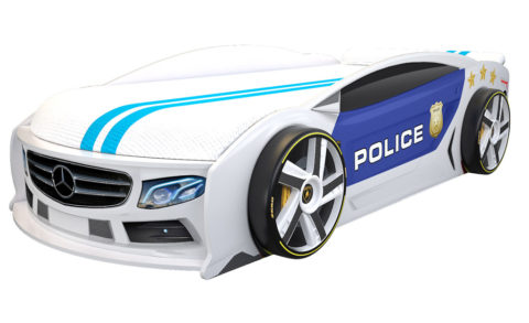 Мерседес Манго Полиция 2 - кровать-машинка. Серия Манго с подъемным матрасом производитель КарлСон 24