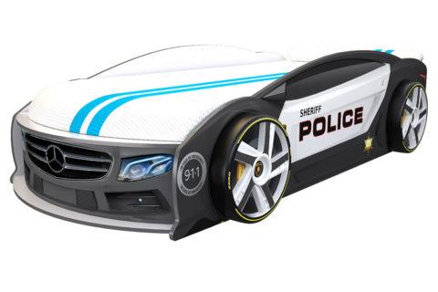 Мерседес Манго Полиция - кровать-машинка. Серия Манго с подъемным матрасом производитель КарлСон 24