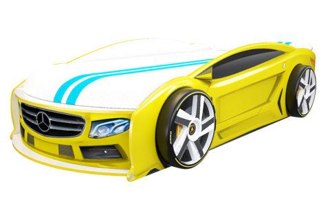 Мерседес Манго Желтый - кровать-машинка. Серия Манго с подъемным матрасом производитель КарлСон 24