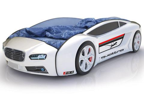 Roadster Ауди белый - кровать-машинка. Серия Roadster производитель КарлСон 24