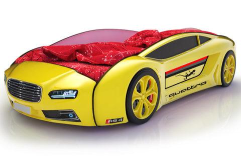 Roadster Ауди желтый - кровать-машинка. Серия Roadster производитель КарлСон 24