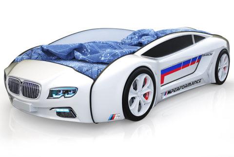 Roadster БМВ белый - кровать-машинка. Серия Roadster производитель КарлСон 24