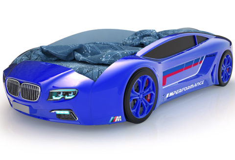 Roadster БМВ синий - кровать-машинка. Серия Roadster производитель КарлСон 24