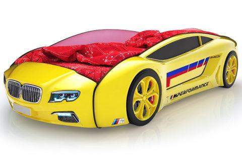 Roadster БМВ желтый - кровать-машинка. Серия Roadster производитель КарлСон 24