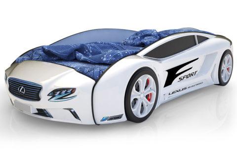 Roadster Лексус белый - кровать-машинка. Серия Roadster производитель КарлСон 24