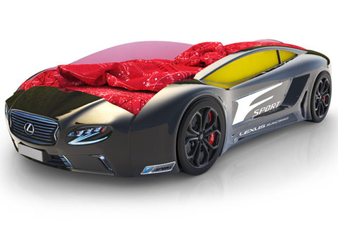 Roadster Лексус черный - кровать-машинка. Серия Roadster производитель КарлСон 24