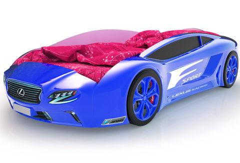 Roadster Лексус синий - кровать-машинка. Серия Roadster производитель КарлСон 24