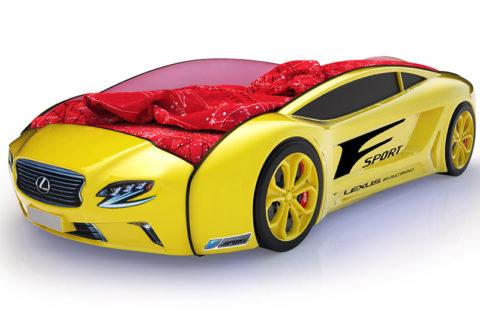 Roadster Лексус желтый - кровать-машинка. Серия Roadster производитель КарлСон 24