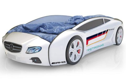 Roadster Мерседес белый - кровать-машинка. Серия Roadster производитель КарлСон 24