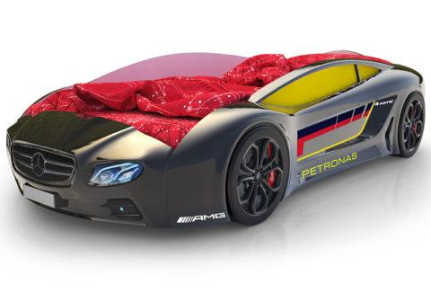 Roadster Мерседес черный - кровать-машинка. Серия Roadster производитель КарлСон 24
