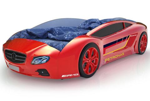 Roadster Мерседес красный - кровать-машинка. Серия Roadster производитель КарлСон 24