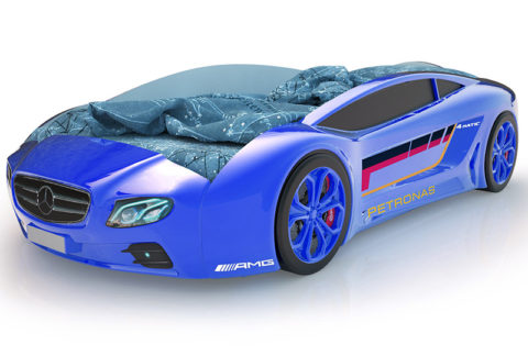 Roadster Мерседес синий - кровать-машинка. Серия Roadster производитель КарлСон 24