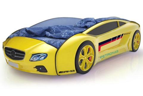 Roadster Мерседес желтый - кровать-машинка. Серия Roadster производитель КарлСон 24