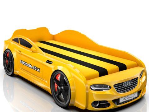 Детская кровать машина от компании Romack цвет кроватки наличие матраса