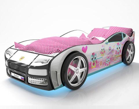 Турбо Белая 2 - кровать-машинка. Серия Турбо производитель КарлСон 24