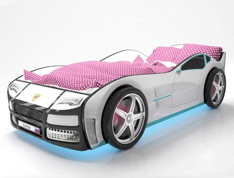 Турбо Белая - кровать-машинка. Серия Турбо производитель КарлСон 24