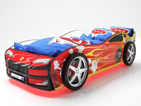 Турбо Красная 2 - кровать-машинка. Серия Турбо производитель КарлСон 24