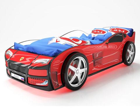 Турбо Красная - кровать-машинка. Серия Турбо производитель КарлСон 24