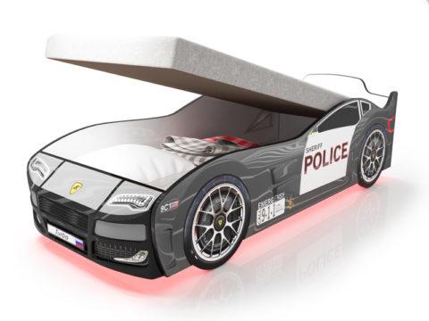 Турбо Полиция 2 с подъемным матрасом - кровать-машинка. Серия Турбо с подъемным механизмом производитель КарлСон 24