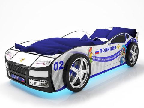 Турбо Полиция - кровать-машинка. Серия Турбо производитель КарлСон 24