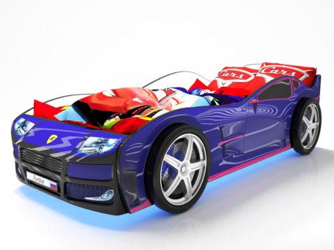 Турбо Синяя - кровать-машинка. Серия Турбо производитель КарлСон 24
