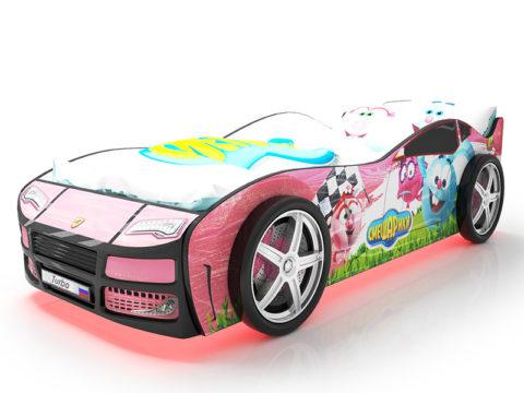 Турбо Смешарики Розовая - кровать-машинка. Серия Турбо Смешарики производитель КарлСон 24