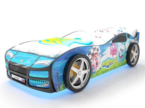 Турбо Смешарики Синяя - кровать-машинка. Серия Турбо Смешарики производитель КарлСон 24